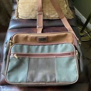 Jaguar Messenger Bag Tan and Army Green Cross-body